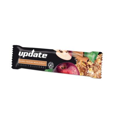 Update Almás müzliszelet kakaós tejbevonó talppal, édesítőszerrel 25g