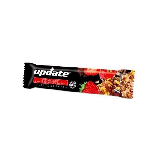 Update Epres müzliszelet kakaós tejbevonó talppal, édesítőszerrel 25 g