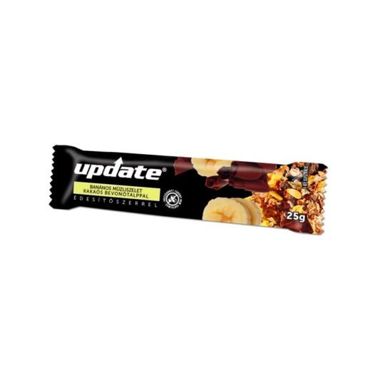 Update Banános müzliszelet kakaós bevonó talppal, édesítőszerrel 25g