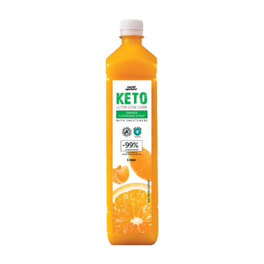 Norbi Update Keto  Ultra Low carb Narancs ízű szörp édesítőszerekkel 1000 ml