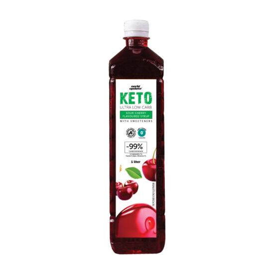 Norbi Update Keto  Ultra Low carb  Meggy ízű szörp édesítőszerekkel 1000 ml