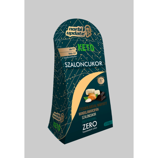 Norbi Update KETO Étcsokoládéval mártott mandulamarcipán szaloncukor  édesítőszerrel 210g